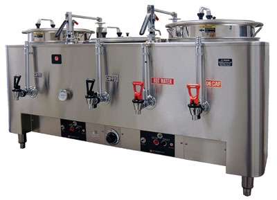 Grindmaster 8306E Triple Coffee Urn w/ 6-gal/Liner Capacity, Automatic, Pump Type, 120-208v/1ph