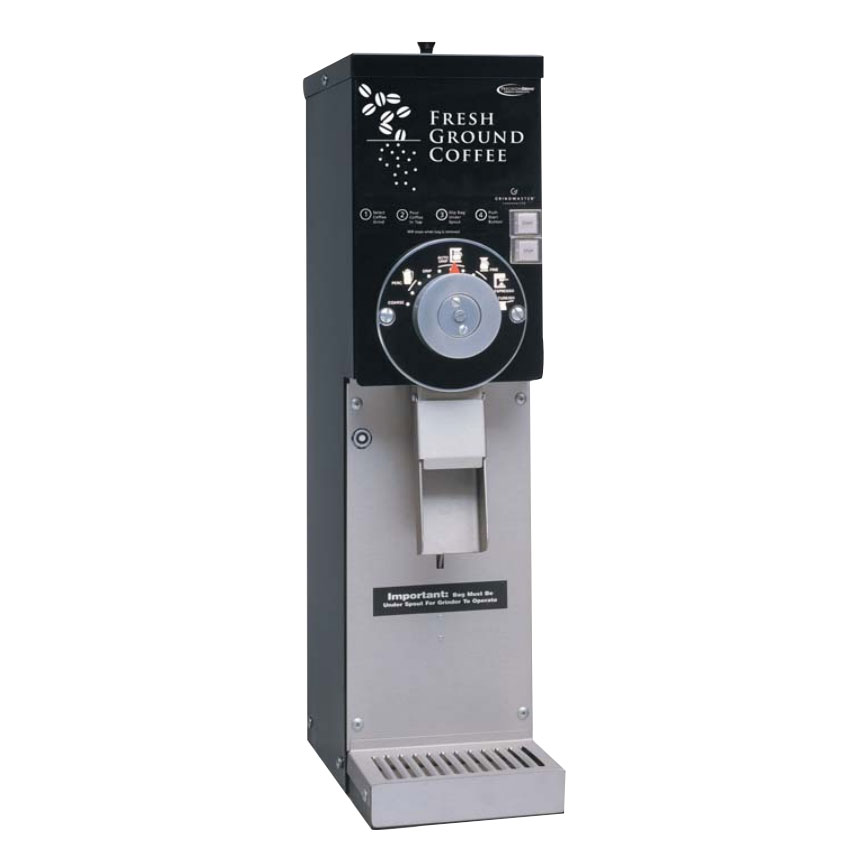 Grindmaster 890BS/BLACK Coffee Grinder w/ (1) 3-lb Hopper, Adjustable Grind Settings, 120v