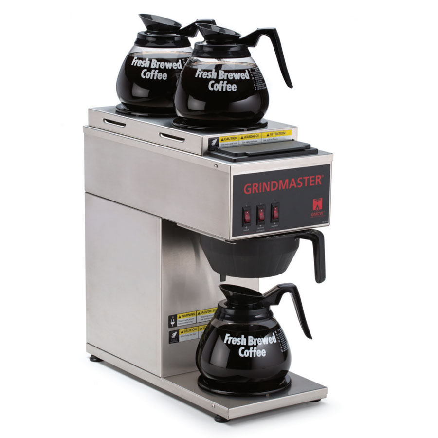 Grindmaster CPO-3P-15A Portable Coffee Brewer w/ (3) Lower Warmer, Pour Over, 120v