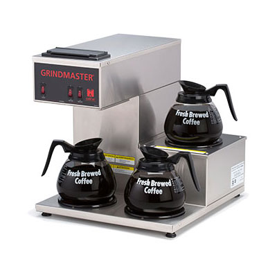 Grindmaster CPO-3RP-15A Portable Coffee Brewer w/ (2) Lower & (1) Step Up Warmers, Pour Over, 120v
