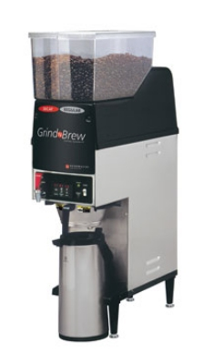 Grindmaster GNB-20H Single Coffee Brewer for Airpot w/ (2) Grinders, 6.5-lb Hopper, Fresh Brew, 120v