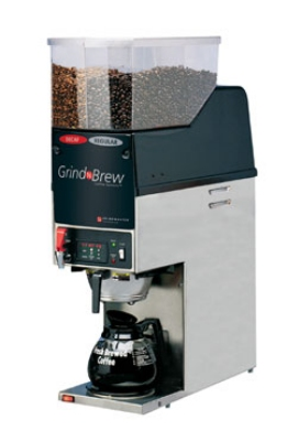 Grindmaster GNB-21H Single Coffee Brewer for Decanter w/ (2) Grinders, 6.5-lb Hopper, Fresh Brew, 120v