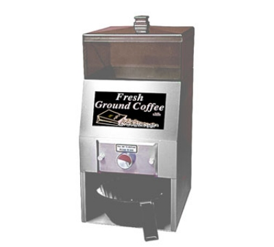 Grindmaster MODEL-A Coffee Ground Dispenser w/ 6-lb Capacity, Stainless