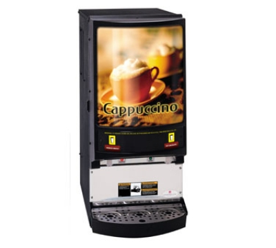 Grindmaster PIC-2 2-Flavor Hot Chocolate/Cappuccino Machine w/ (2) 5-lb Hoppers,