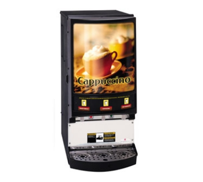 Grindmaster PIC-3 3-Flavor Hot Chocolate/Cappuccino Machine w/ (3) 5-lb Hoppers, 120v