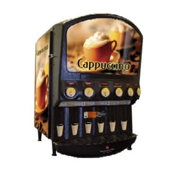 Grindmaster PIC-6 6-Flavor Hot Chocolate/Cappuccino Dispenser w/ (6) 5-lb Hoppers, 120v