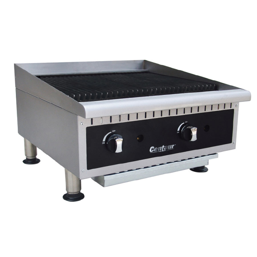 "Centaur ABCBLG24 24"" Gas Charbroiler w/ Cast Iron Grates - Manual, NG"