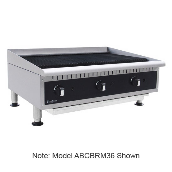 "Centaur ABCBRM24 24"" Radiant Charbroiler w/ Cast Iron Grates - Manual Controls"