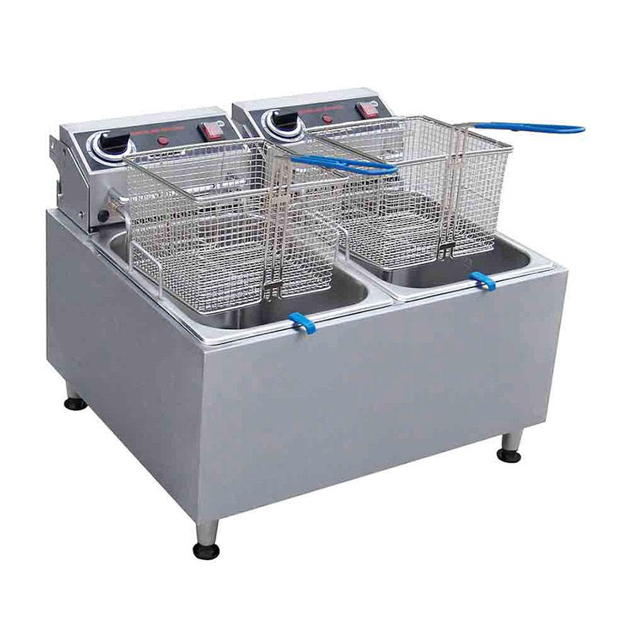 Centaur ABF32 Countertop Electric Fryer - (2) 16-lb Vat, 208-240v/1ph