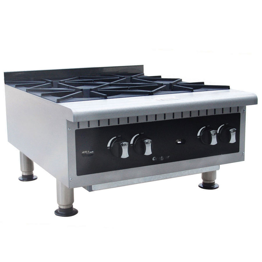 "Centaur ABMHP424 24"" Gas Hotplate w/ (4) Burners - Manual, NG"