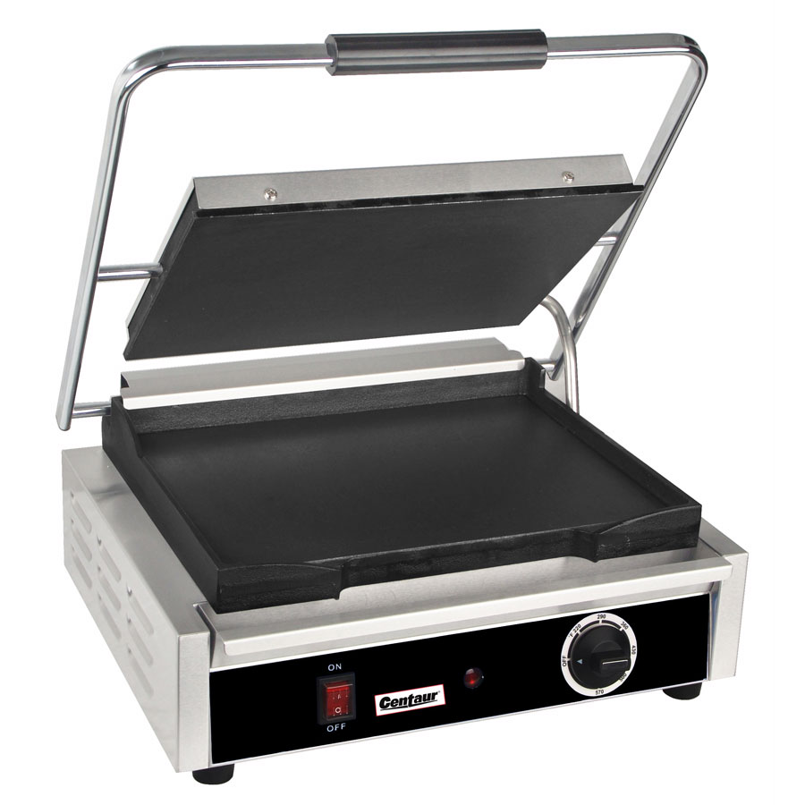 Centaur ABSGM Commercial Panini Press w/ Cast Iron Smooth Plates, 120v