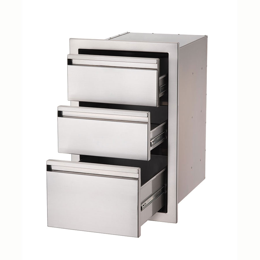 Crown Verity 3D1 Built-In 3-Drawer Compartment, Stainless