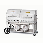 "Crown Verity CCB-60RDP 60"" Mobile Gas Commercial Outdoor Grill w/ Gas Tank Support, LP"