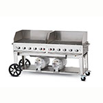 "Crown Verity CCB-72WGP 81"" Outdoor Gas Club Grill w/ Wind Guard - (10) Burners, Stainless, LP"