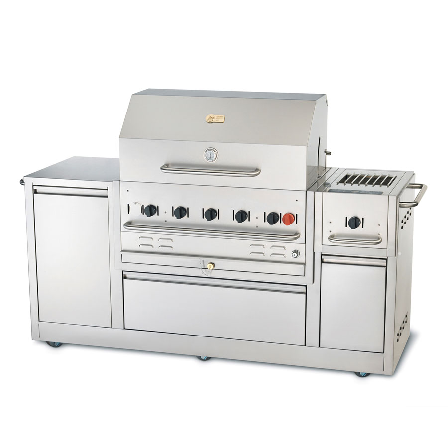 "Crown Verity CV-MBI-80 73.75"" Outdoor Gas Grill - (5) Stainless Burners, LP"