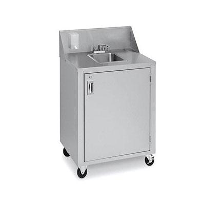 "Crown Verity CV-PHS-4 38.25""H Portable Sink w/ 6""D Bowl, Hot Water"