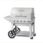 "Crown Verity MCB-36PKG-LP 34"" Mobile Gas Commercial Outdoor Charbroiler w/ Water Pan, LP"