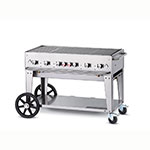 "Crown Verity MCB-48LP 46"" Mobile Gas Commercial Outdoor Charbroiler w/ Water Pan, LP"