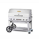 "Crown Verity MCB-48RDP-NG 48"" Mobile Gas Commercial Outdoor Charbroiler w/ Water Pan, NG"