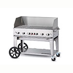 "Crown Verity MCB-48WGP-NG 46"" Mobile Gas Commercial Outdoor Charbroiler w/ Water Pan, NG"