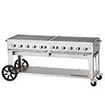 "Crown Verity MCB-72LP 70"" Mobile Gas Commercial Outdoor Charbroiler w/ Water Pan, LP"