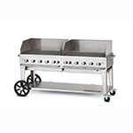 "Crown Verity MCB-72WGP-NG 72"" Mobile Gas Commercial Outdoor Charbroiler w/ Water Pan, NG"