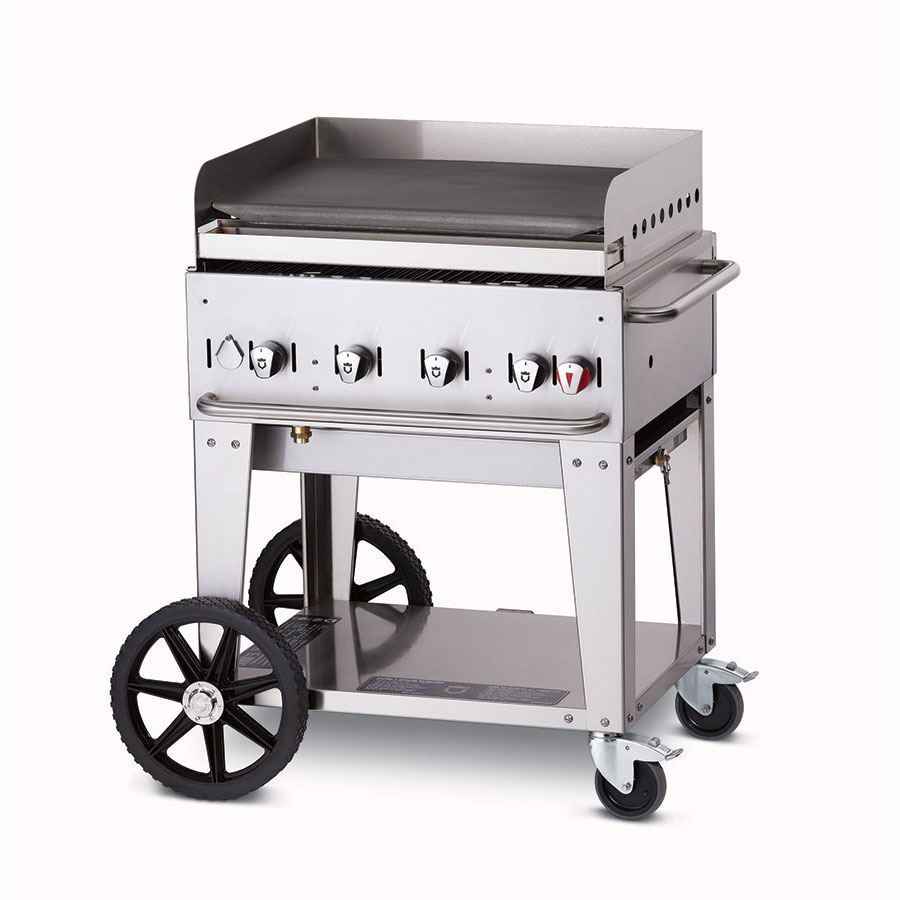 "Crown Verity MG-30LP 28"" Mobile Gas Commercial Outdoor Griddle, LP"