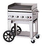"Crown Verity MG-30NG 28"" Mobile Gas Commercial Outdoor Griddle, NG"
