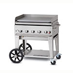 "Crown Verity MG-36LP 44"" Outdoor Gas Griddle w/ (5) Burners - Stainless, LP"