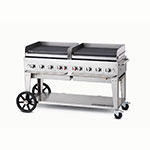 "Crown Verity MG-60LP 58"" Mobile Gas Commercial Outdoor Griddle, LP"