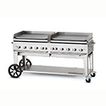 """Crown Verity MG-72NG 81"""" Outdoor Gas Griddle w/ (10) Burners - Stainless, NG"""