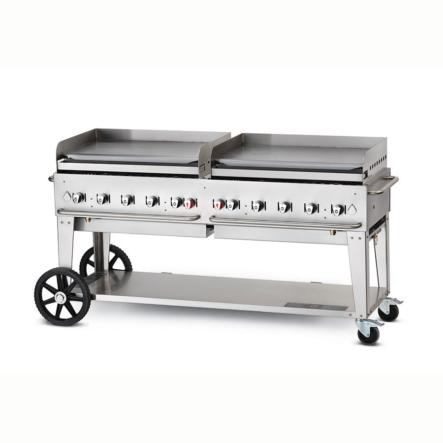 "Crown Verity MG-72NG 70"" Mobile Gas Commercial Outdoor Griddle, NG"