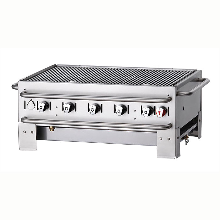 "Crown Verity PCB-36 28"" Countertop Gas Commercial Outdoor Grill w/ Water Pan, LP"