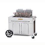 Crown Verity PF-2NG Outdoor Gas Fryer - (2) 40-lb Vat, NG
