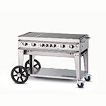 "Crown Verity RCB-48-LP 46"" Mobile Gas Commercial Outdoor Grill w/ Water Pans, LP"