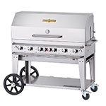 "Crown Verity RCB-48RDP-LP 56"" Portable Outdoor Gas Grill w/ Roll Dome - (6) Burners, Stainless, LP"