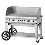 "Crown Verity RCB-48WGP-LP 46"" Mobile Gas Commercial Outdoor Grill w/ Water Pans, LP"