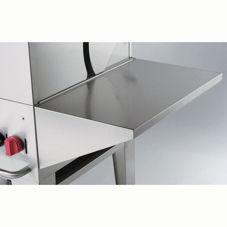 "Crown Verity RES Removable End Shelf for MCB Grills - 14"" x 23"", Stainless"