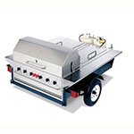 "Crown Verity TG-1 46"" Towable Gas Commercial Outdoor Grill w/ Water Pans, LP"