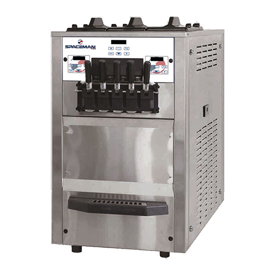 Spaceman 6265H Soft Serve Freezer w/ (3) 8.5-qt Hopper, Air Cooled, 208-230v/1ph
