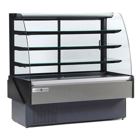 "Hydra-Kool KBD-CG-50-R 52"" Full Service Bakery Case w/ Curved Glass - (4) Levels, 115v"