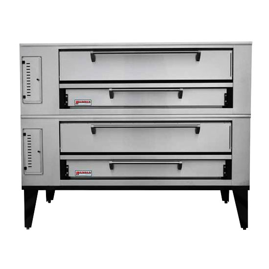 Marsal SD-660STACKED Double Pizza Deck Oven, NG
