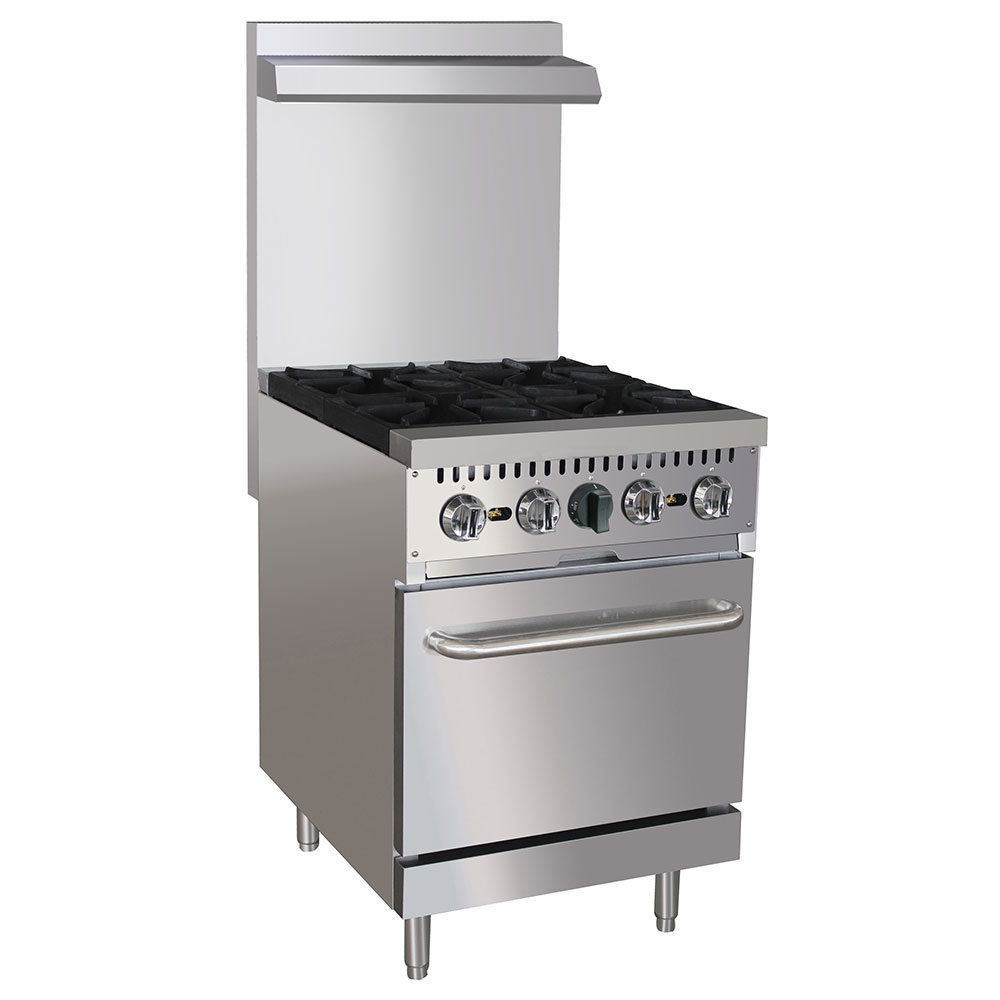 "eQuipped 24-CPGV-4B-S20 24"" 4-Burner Gas Range w/ Standard Oven, NG"