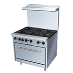 "eQuipped 36-CPGV-6B-S30 36"" 6-Burner Gas Range w/ Standard Oven, NG"