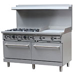 "eQuipped 60-CPGB-6B-24G-S26 60"" 6-Burner Gas Range w/ Standard Oven, NG"