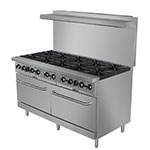 "Value Series 60-CPGV-10B-S26 60"" 10-Burner Gas Range w/ (2) Standard Ovens, NG"