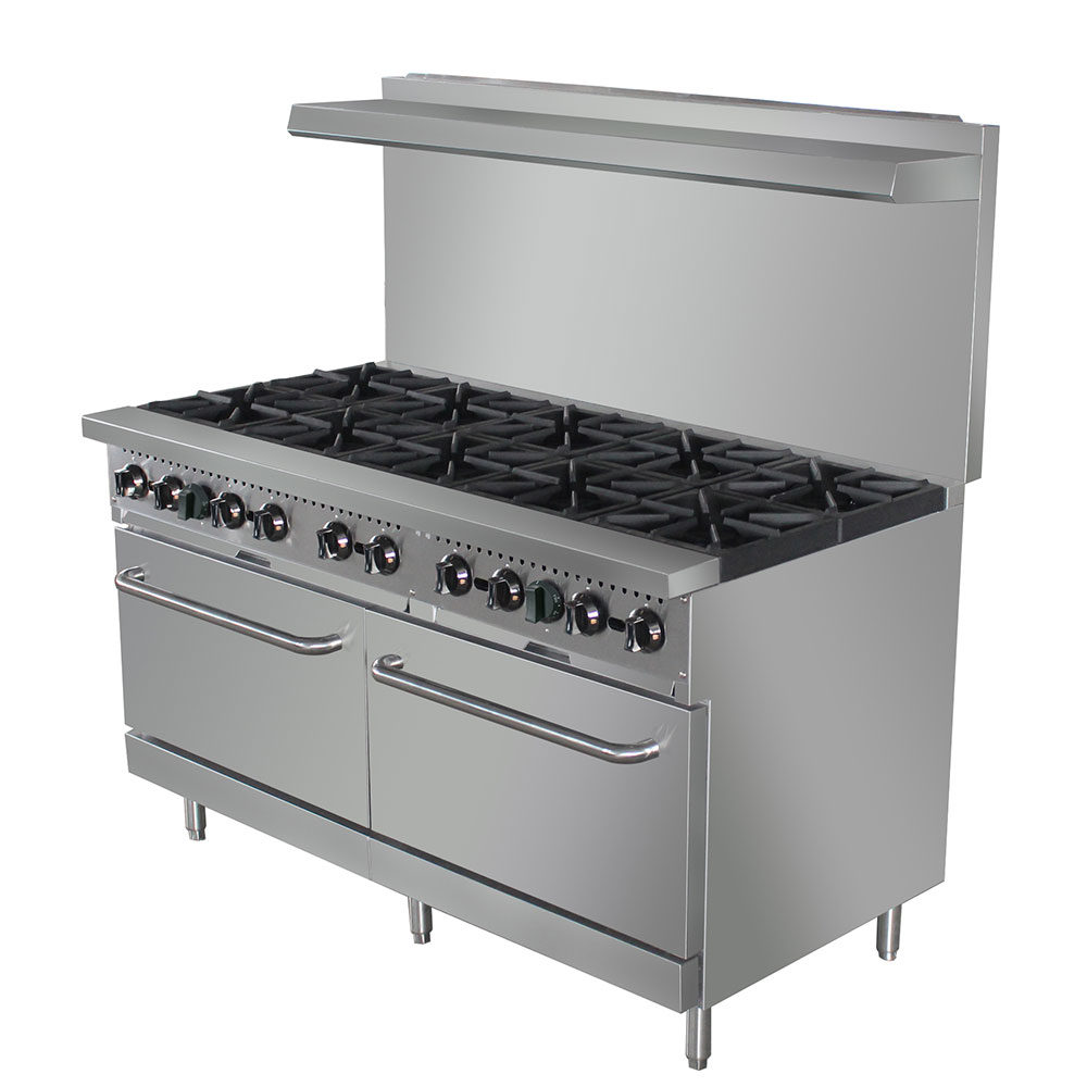 "eQuipped 60-CPGV-10B-S26 60"" 10-Burner Gas Range w/ (2) Standard Ovens, NG"
