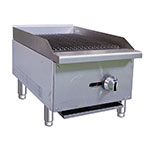 "Value Series CBR15 16"" Gas Countertop Charbroiler - Standard, 30,000 BTU, Stainless"