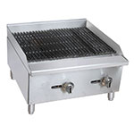 "Value Series CBR24 24"" Gas Countertop Charbroiler - Standard, 60,000 BTU, Stainless"