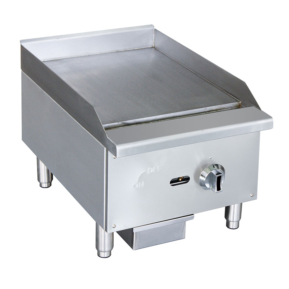 """eQuipped G15 16"""" Gas Griddle - Manual, 5/8"""" Steel Plate"""